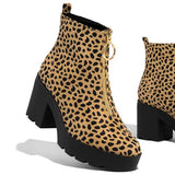 Valuedshoes Pull-On Chunky Heel Booties