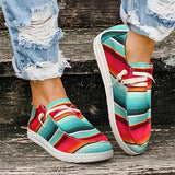 Valuedshoes Women Lace Up Round Toe Flat Sneakers