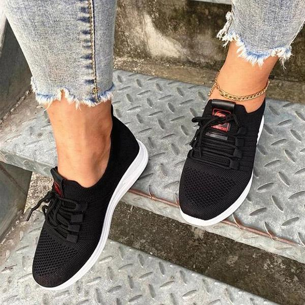 Valuedshoes Women Comfy Fabric Casual Sneakers
