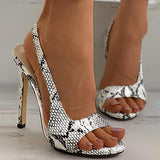 Valuedshoes Plain Peep Toe Stiletto Heels