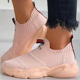Valuedshoes Letter Pattern Knit Casual Sneakers