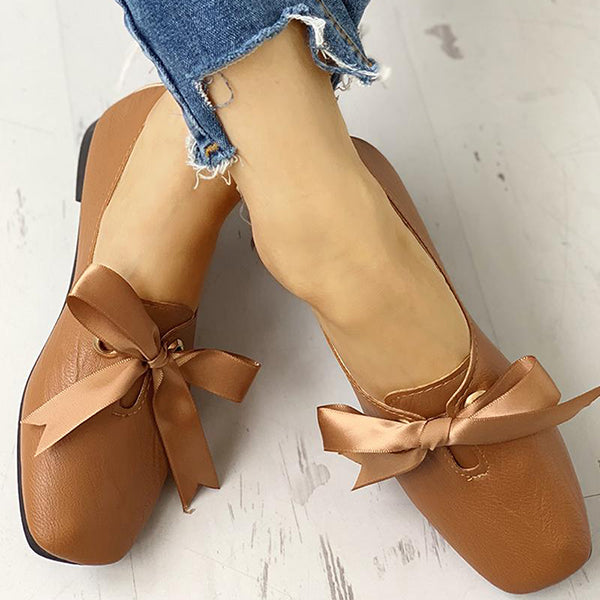 Valuedshoes Bowknot Design Casual Flat Shoes