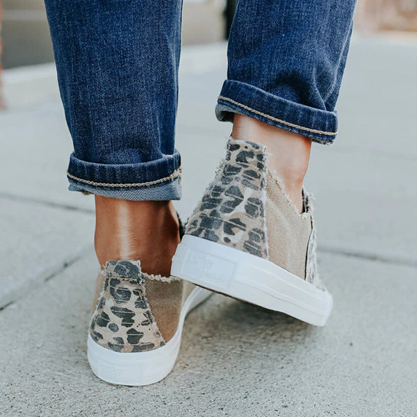 Valuedshoes Gypsy Jazz Absolute Leopard Contrast Sneakers