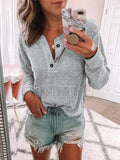 Valuedshoes Womens Cozy Henley Sweatshirt