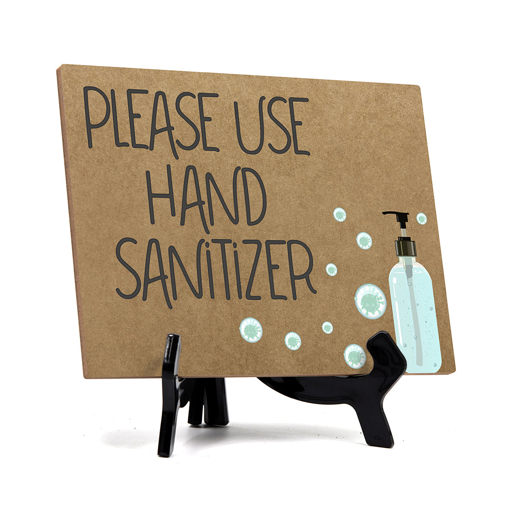 "Signs ByLITA Please Use Hand Sanitizer, Hygiene Sign, 6"" x 8"""