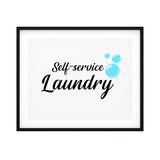 Self-Service Laundry UNFRAMED Print Home Decor Wall Art
