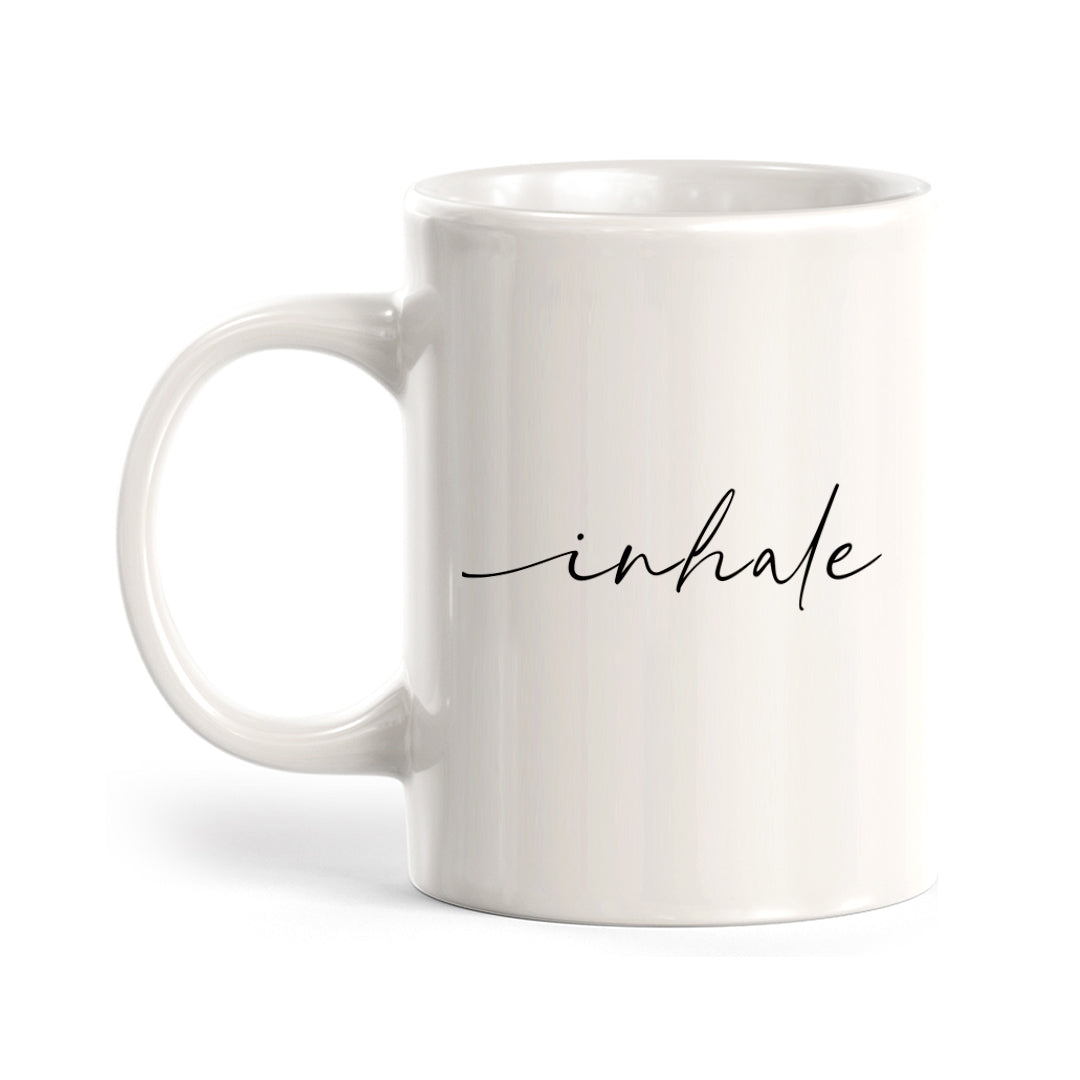 Inhale Coffee Mug