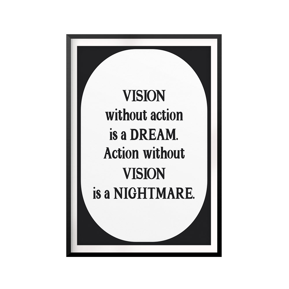 Inspiration Vision UNFRAMED Print Quote Wall Art