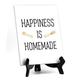 "Signs ByLITA Happiness Is Homemade, Table Sign, 6"" x 8"""