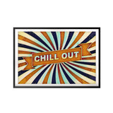 Chill Out UNFRAMED Print Retro Wall Art