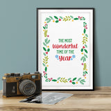 The Most Wonderful Time Of The Year UNFRAMED Print Christmas Decor Wall Art