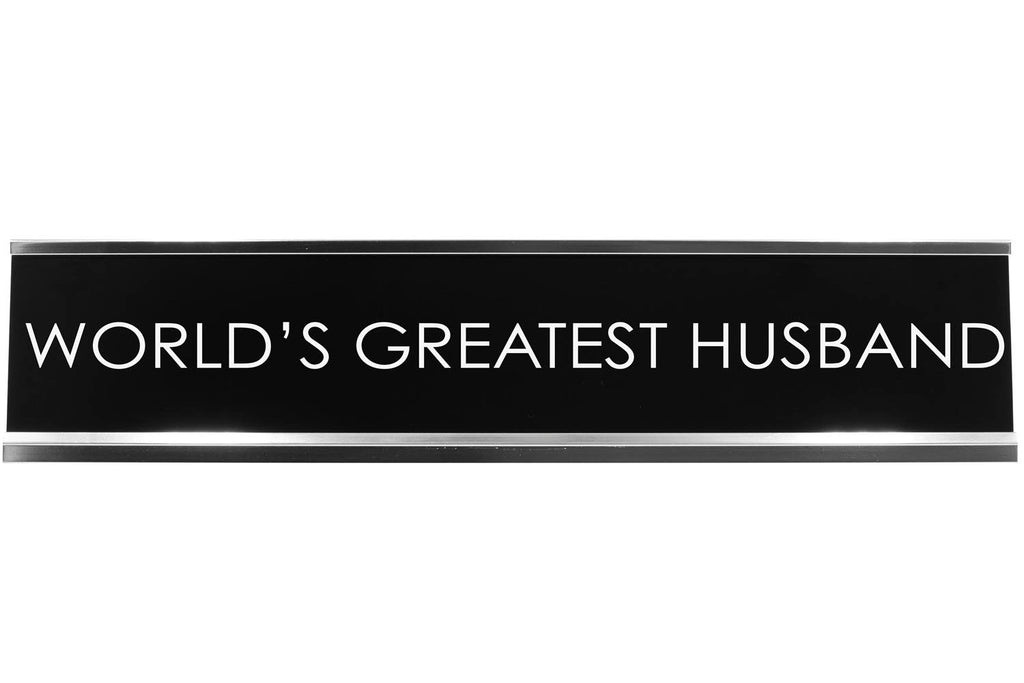 World'S Greatest Husband Novelty Desk Sign