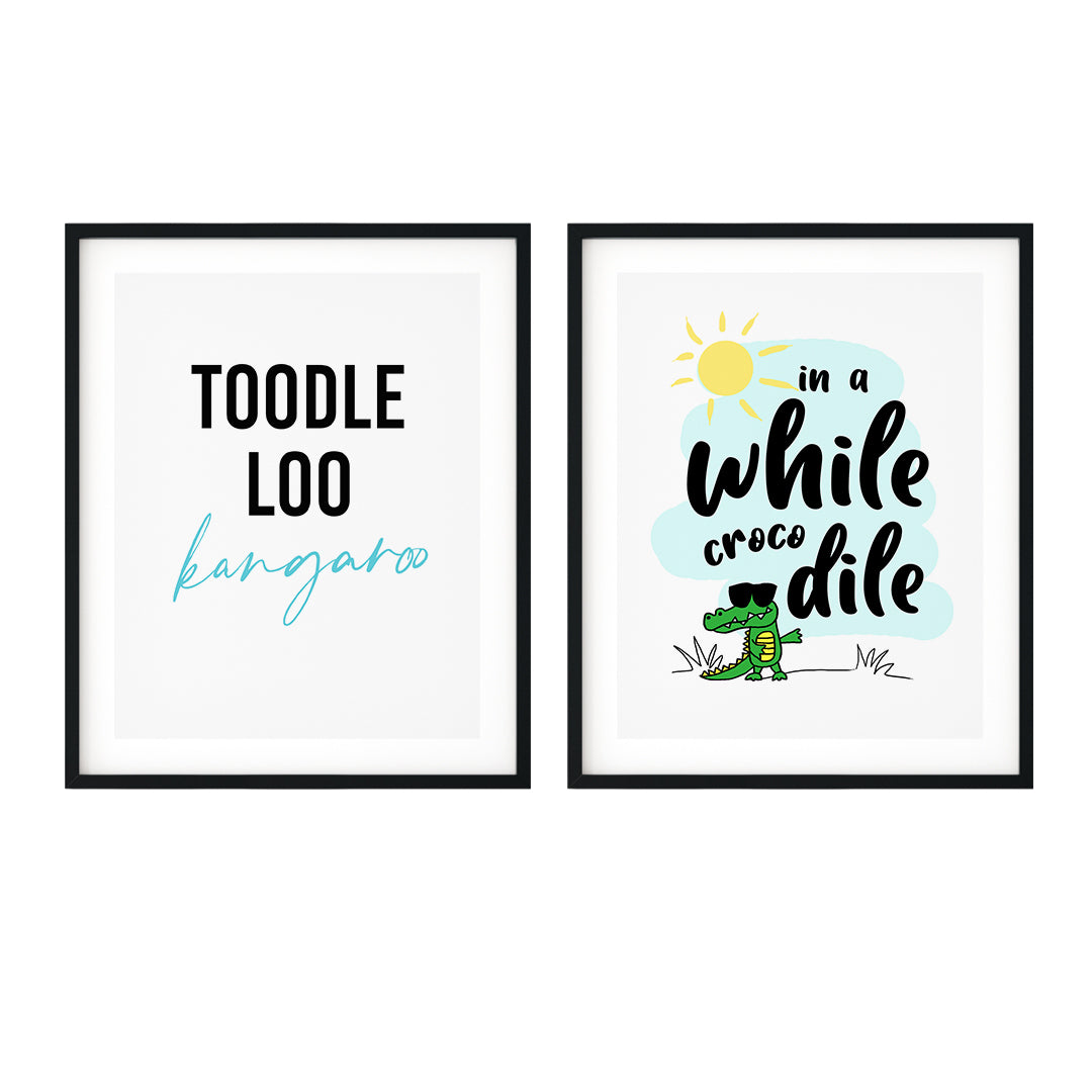 Cute Farewell Decor Wall Art UNFRAMED Print (2 Pack)