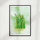 Asparagus Watercolor UNFRAMED Print Fruit Wall Art