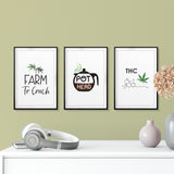 Refined Stoner Wall Art UNFRAMED Print (3 Pack)