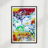 Neon Abstract Waves UNFRAMED Print Nature Wall Art