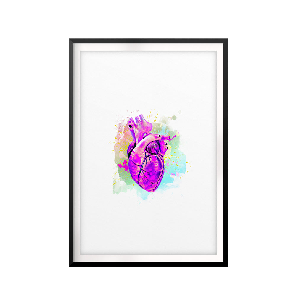 Love In Color UNFRAMED Print Anatomy Wall Art