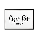 Cigar Bar Enjoy UNFRAMED Print Home Decor Wall Art