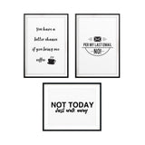 Grumpy Office Novelty Wall Art UNFRAMED Print (3 Pack)