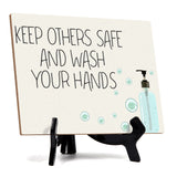 "Signs ByLITA Keep Others Safe & Wash Your Hands, Hygiene Sign, 6"" x 8"""
