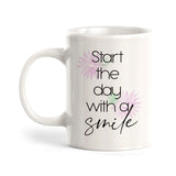 Start The Day With A Smile Coffee Mug