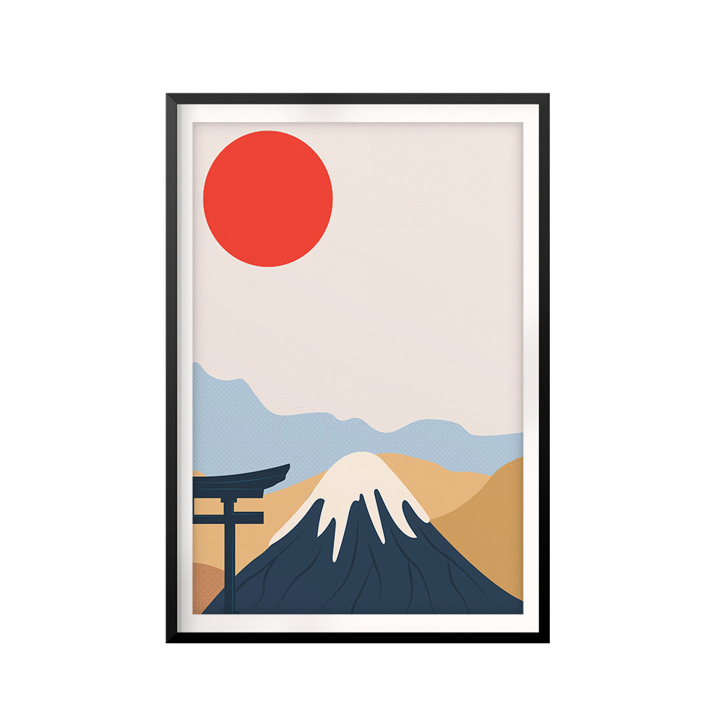 Fuji San UNFRAMED Print Scenary Wall Art