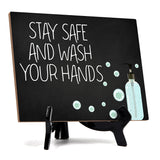 "Signs ByLITA Stay Safe & Wash Your Hands, Hygiene Sign, 6"" x 8"""