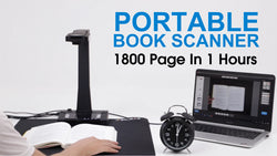 Portable Book Scanner 1800 Pages In One Hours.