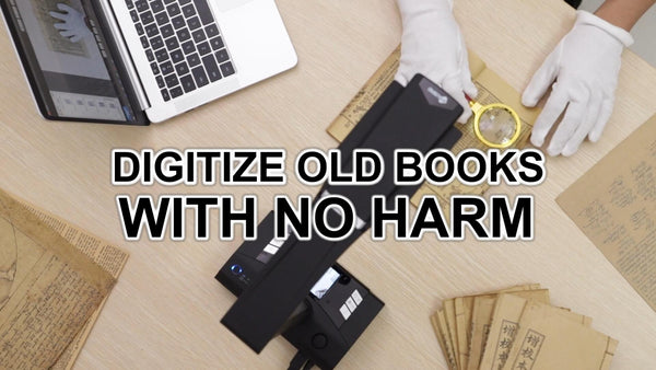 Digitize Your Collection Of Old Books or Paperworks With No Harm