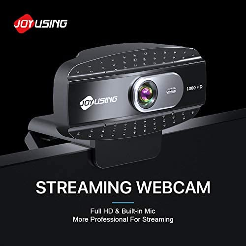 JOYUSING 1080P HD Webcam with Microphone, Advanced Auto Focus, 3MP USB Web Camera with WDR for Streaming, Online Learning, Skype Zoom Teams, PC Laptop Desktop…