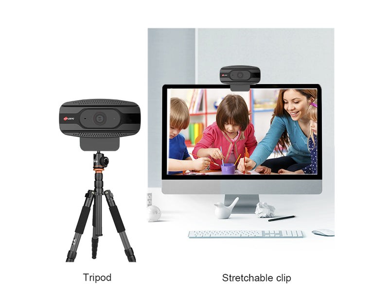 Joyusing N800 Webcam with Microphone, 2021 4K Webcam, and Tripod, 8MP USB Webcam for Laptop PC, Streaming Webcam for Zoom, Skype, Facetime, YouTube