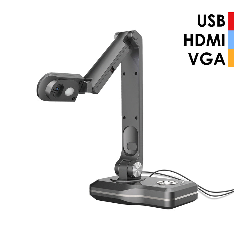 JOYUSING V500 8MP Document Camera with USB/VGA/HDMI Four Connection Modes, A3 Book Scanner with 5.5mAh Battery