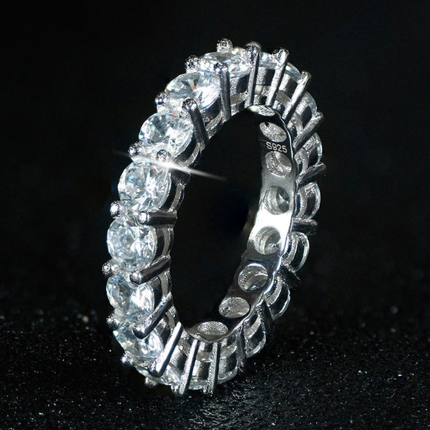 sterling silver wedding band eternity ring-Ring-HADES
