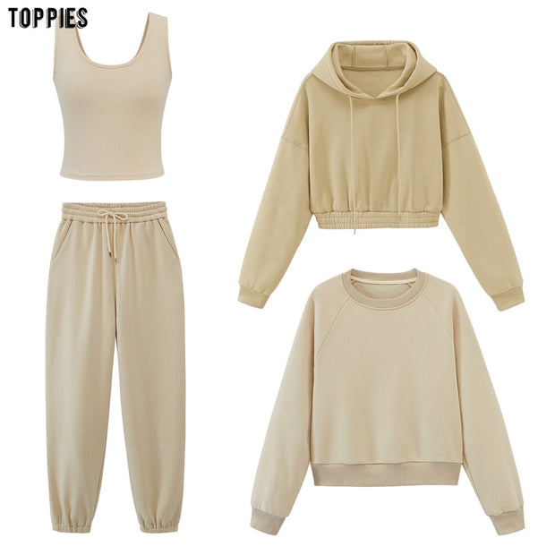 toppies womens tracksuits hooded sweatshirts-sweatshirts-HADES
