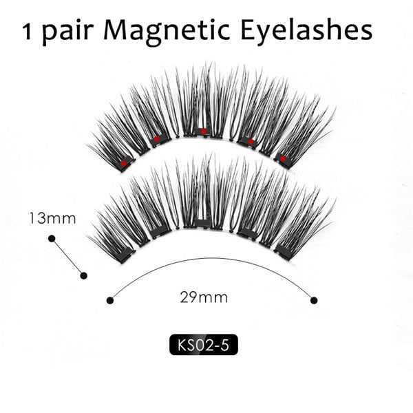 Double Layer Magnetic False Eyelashes & Magnetic Eyeliner-Makeup-HADES