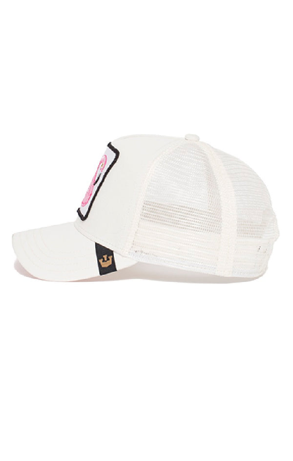 Goorin Bros - Trucker Cap - Flamingo - Floater - White - Partisan, Parkhurst, Johannesburg side view
