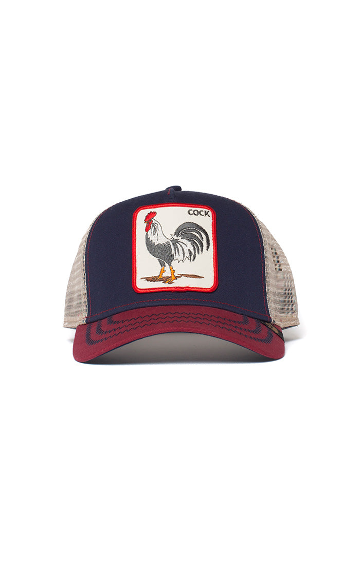 Goorin Trucker - All American Rooster - Navy - Partisan, Parkhurst - front view