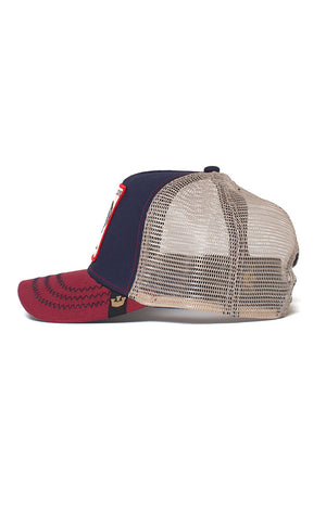 Goorin Trucker - All American Rooster - Navy - Partisan, Parkhurst - side view