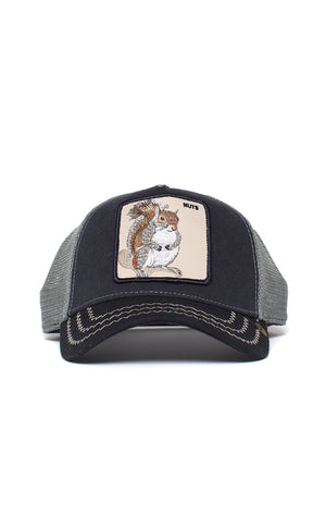 Goorin Bros - Trucker Cap - Squirrel, nuts - black - Partisan, Parkhurst, Johannesburg - front view