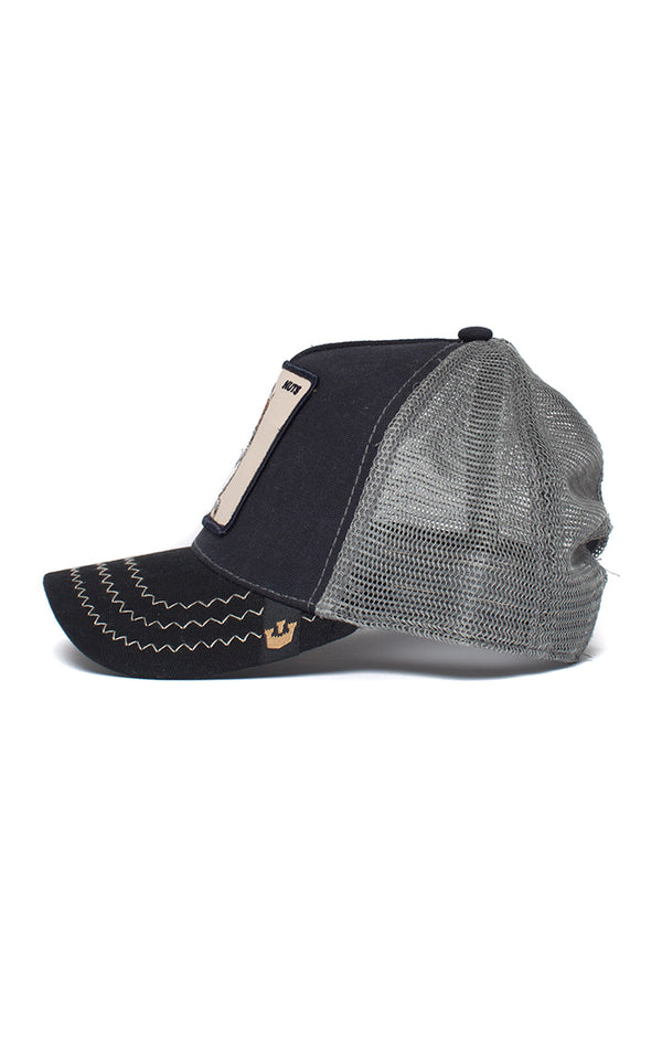 Goorin Bros - Trucker Cap - Squirrel, nuts - black - Partisan, Parkhurst, Johannesburg - side view