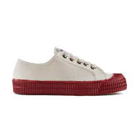 Novesta Star Master - Red sole, white top - Low Top Sneaker - Partisan, Parkhurst - side view