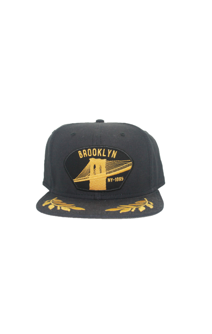 Goorin - City Cap - Black & Gold Flat Cap - Brooklyn - Partisan, Parkhurst