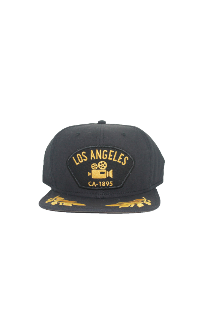 Goorin - City Cap - Black & Gold Flat Cap - Los Angeles - Partisan, Parkhurst