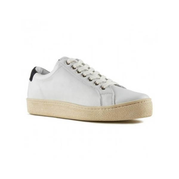 Itoh Ecru White/Black - Leather Sneaker