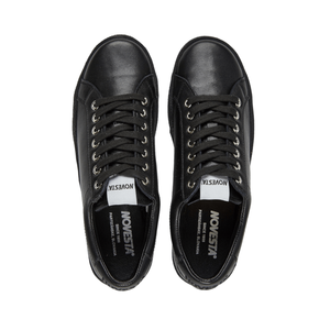 All black leather sneaker - Novesta - Aerial view
