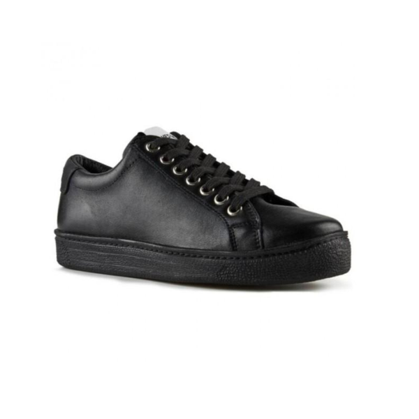 All black leather sneaker - Novesta