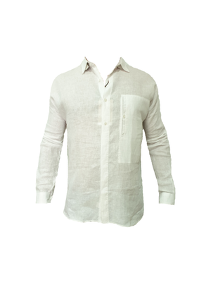 Partisan Original Shirt - Linen - White Colour - Partisan, Parkhurst, Johannesburg