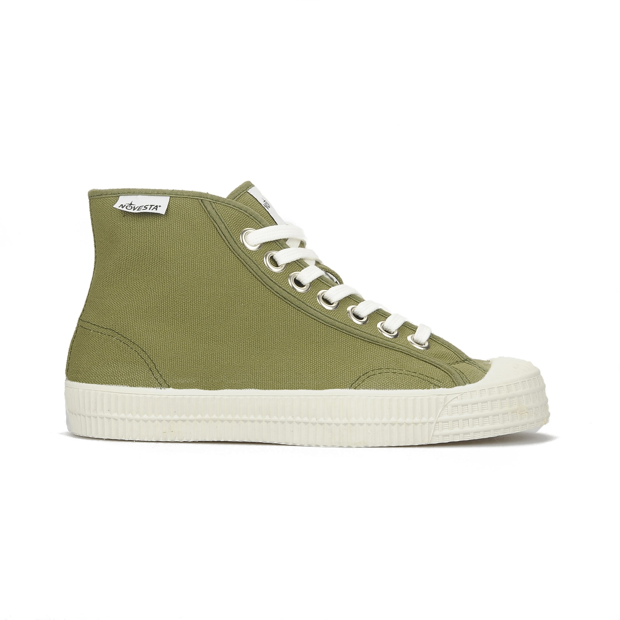 Novesta Rubber High Top Sneaker - military green colour - Partisan, Parkhurst, Johannesburg - side view