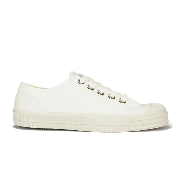 Novesta Star Master 10 Low Top Sneaker - All White - Partisan, Parkhurst - Side view