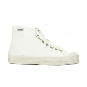 Novesta Star Dribble High Top Sneaker - All White - Partisan, Parkhurst, Johannesburg - Side View